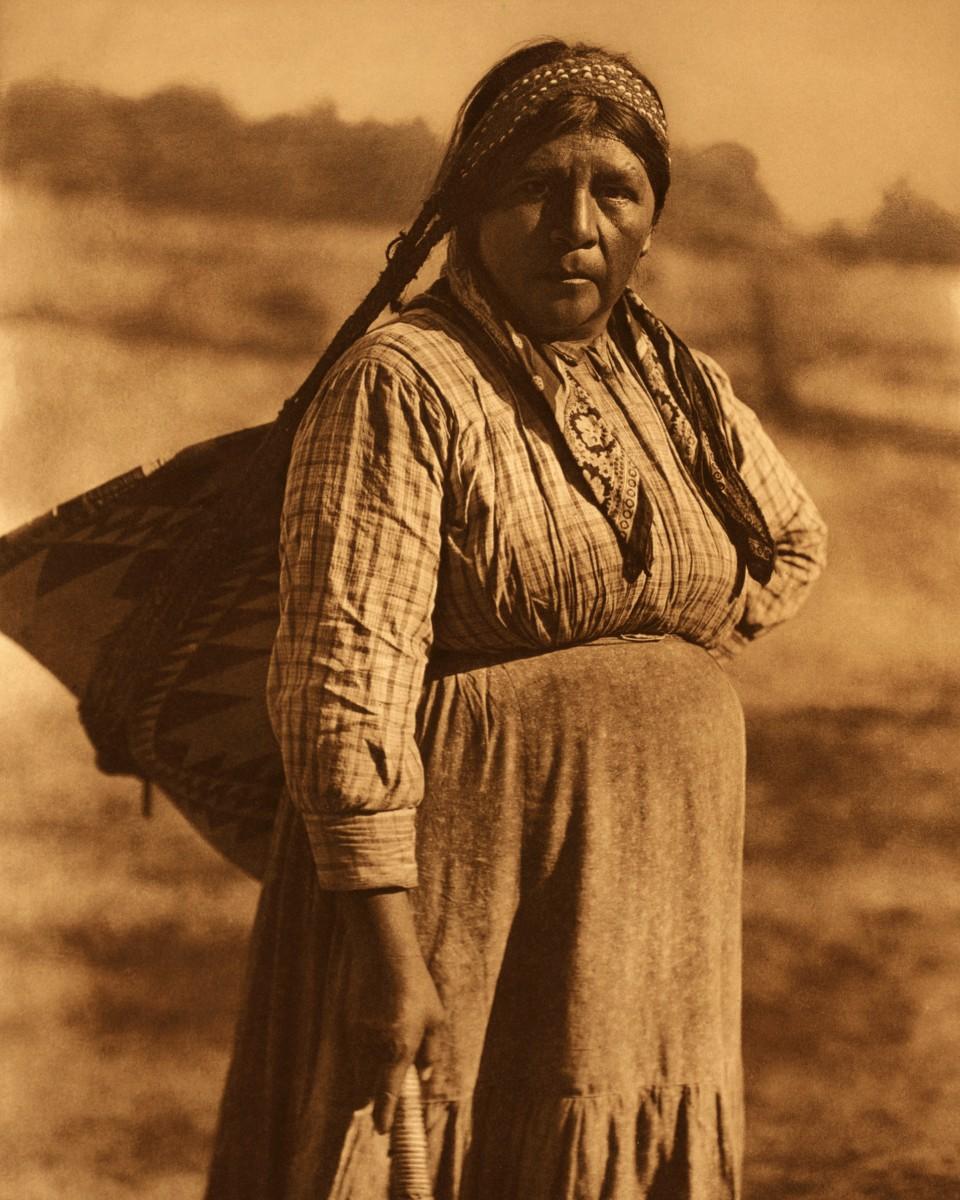 Pomo girl Edward Curtis Native American Photo